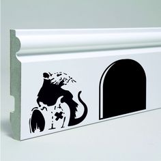 Wall Art Banksy Rat skirting board, window Sticker Decal Home Decoration