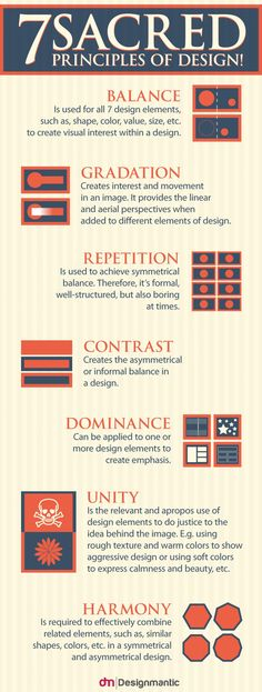 7 Sacred Principles Of Design! Infographic
