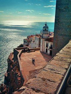 Mar desde el Castillo de Peñiscola - Castellon, Spain