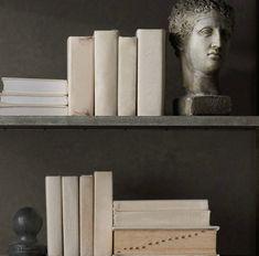 Restoration Hardware fabric covered books diy