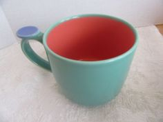 Lindt-Stymeist Colorways Thumbprint Mug Turquoise Salmon Blue  #LindtStymeist