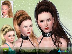 Emma's Simposium: Free Hair Pack #162 By Newsea - Donated/Gifted To ...