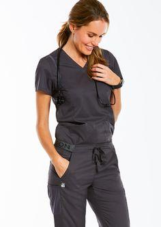 EON Maevn Women/'s Scrub Pants 7358-CHR Charcoal