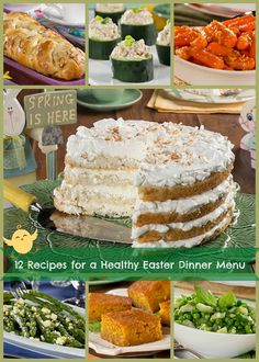 12 Recipes for a Healthy Easter Dinner Menu: From appetizers to desserts, you'll love this diabetic-friendly Easter recipes.