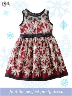 Adorable party dresses for the Holiday Season! Find one she'll love at prices up to 70% off. At zulily, new styles are added daily so you'll be sure to find something special every single day