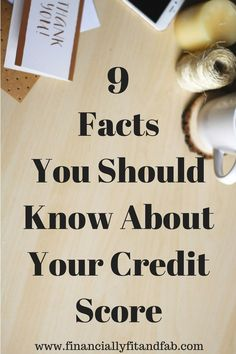 Your credit score affects every area of your financial life. Check out these 9 facts you should know about your credit score. Ways To Save Money, Money Tips, Money Saving Tips, How To Make Money, Managing Money, Money Savers, Check Credit Score, Fix Your Credit, Credit Report