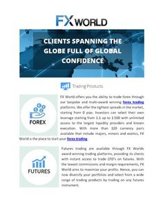 FXWorld.trade is a leader when it comes to forex trading, providing comprehensive services http://www.authorstream.com/Presentation/fxworldtrade-2394088-fx-world/