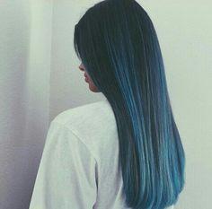 azul cabello bonito