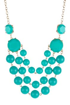Turquoise Three-Layer Bead Necklace