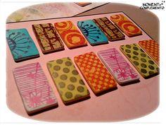 tablas selladas y tintadas para futuras pulseras...
