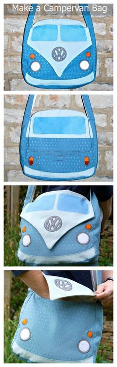 If you want to make a really fun bag for yourself, family or friends then you can get this downloadable pdf pattern here. This sewing pattern allows you to make this very unique bag based on the Splitscreen Campervan. This bag will have you standing out f