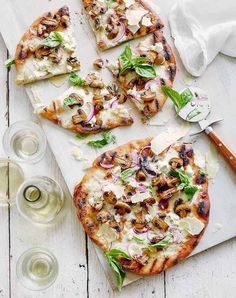 Grilled white pizza. Get the recipe.
