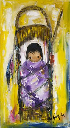 DeGrazia® - My Very Own Papoose - Gallery Print  16 x 9. $17.95