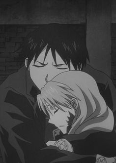 """Riza and Roy. """"Why did you become a soldier?""""-Winry """"Because there's someone I need to protect.""""-Riza Hawkeye"""