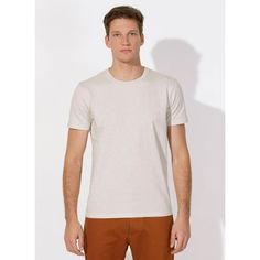 unite basic organic cotton heavy round neck t-shirt - men