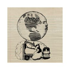 Digital Vintage Graphic Mother Earth Globe by ChangingVases, $0.75