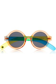 Le Specs + CRAIG & KARL Roundabout round-frame acetate sunglasses