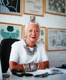 One of the founders of London Fashion Week, Wendy Dagworthy.