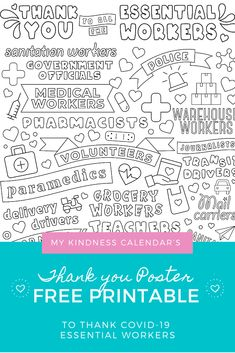 Peaceful Parenting, Gentle Parenting, Activities For Girls, Toddler Activities, Free Coloring, Colouring, Thank You Poster, Classroom Board, Social Emotional Learning