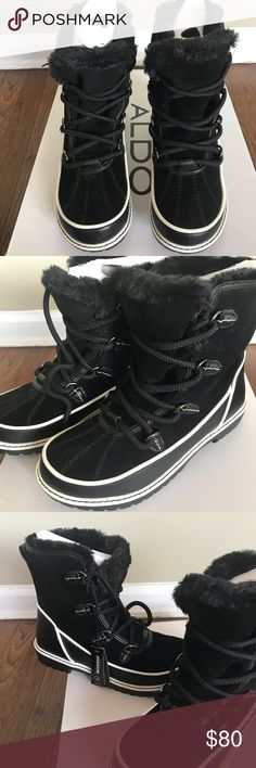 Aldo winter boots All weather boots . Waterproof . Still selling at Aldo and on their website for $120 . Brand new in a box . Aldo Shoes Winter & Rain Boots