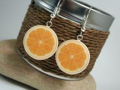 juicy orange earrings