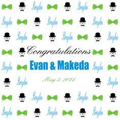 Evan & Makeda Step and Repeat Banner 227891 | www.sign11.com