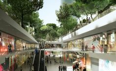 MVRDV Unveils Plans for an Underground Shopping Mall Topped With a Lush Park in Barcelona