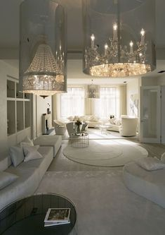 all white living room