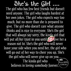 She's the girl