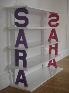 Personalised Bookcase how cute is that?