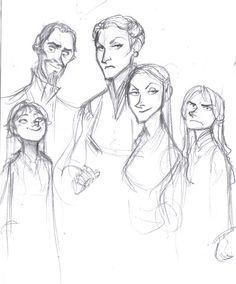 Cygnus Black, Druella, and the girls.