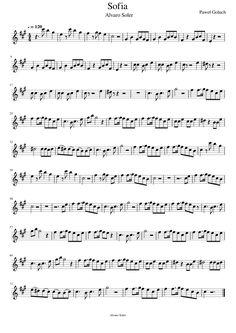 partituras para piano Alvaro Soler Sofia