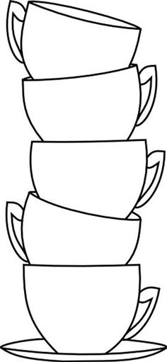 Beyond the Fringe: Blank Cup Stack Free Digi Colouring Pages, Coloring Books, Free Coloring, Applique Patterns, Digi Stamps, String Art, Tea Cups, Coffee Cups, Art Projects