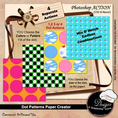 Action - My Flower Pin by Rose.li Action - My Flower Pin - by Rose. Pattern Mixing, Monogram Letters, Scrapbook Supplies, Photoshop Actions, Pattern Paper, Digital Scrapbooking, The Creator, Dots, Paper Crafts