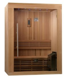 Sundsvall Person Traditional Steam Sauna, Natural Canadian Red Cedar Wood 77 inches high x 66 inches wide x 44 inches long Sauna Wellness, Portable Sauna, Traditional Saunas, Red Cedar Wood, Sauna Design, Steam Sauna, Golden Design, Sauna Room, Basement Gym