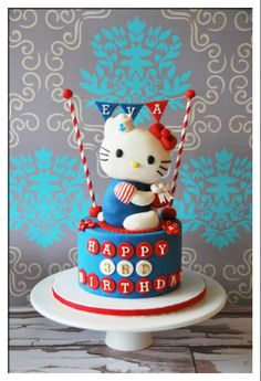 Beautiful Hello Kitty Cake!@Catherine Holland
