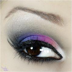 Maquiagem colorida rosa, azul e roxo - tudo make 02