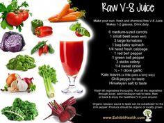 DIY Healthy Raw V8 Juice Recipe