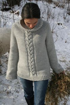 Top Down Cozy Weekend Sweater. I want to knit this one.
