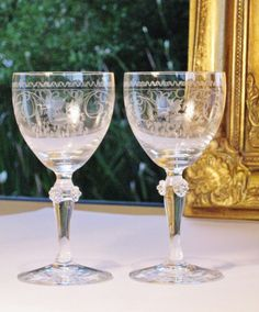 Luxury Theresienthal vintage German crystal wine glasses
