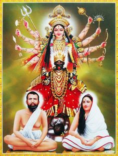 Ramakrishna Paramahamsa was fascinated by Goddess Kali. She was his 'ishtadevata' (Goddess of Love). He was appointed as a priest in a Kali temple and developed a great bonding with the goddess. Mother Kali, Divine Mother, Durga Ji, Kali Hindu, Hindu Art, Famous Saints, Durga Images, Krishna Images, Saints Of India
