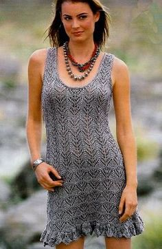 Knit Dress, Dress Skirt, Hand Knitting, Knitting Patterns, Knit Crochet, How To Wear, Outfits, Clothes, Dresses