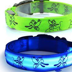 Accesorios de navidad de impresión del gato del Resplandor LED collar De perro De Nylon arnés del perro suministros Para Mascotas 6 colores Liberan El envío