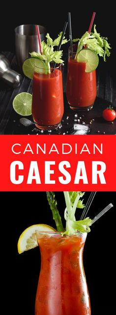 Here's an easy recipe for Canada's national cocktail - the Caesar drink is like the bloody mary but inspired by Italy. Caesar Drink, Cocktail Drinks, Cocktails, Bloody Mary, Drink Recipes, Smoothies, Beverages, Easy Meals, Italy