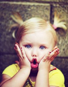 """¡Oh, cielos!"" Ternura de niña ^_^ OMG #kids #fun"