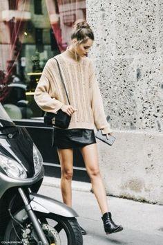 sueter y falda