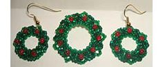 Holiday Wreath Pin & Earrings