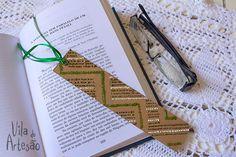 Como fazer um marcador de páginas decorado, rápido e fácil.  #craft #artesanato #DIY