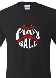 Play ball baseball shirt. Cheer on your favorite player with this fun shirt. by MoreThanGlitz on Etsy