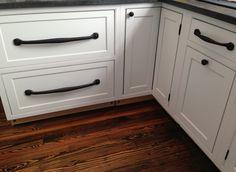 Large Black Iron Bar Pulls. Restoration Hardware Iron Cabinet Pulls On  Decora White Inset Kitchen